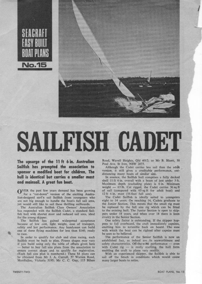 boat-plans-sailfish-cadet